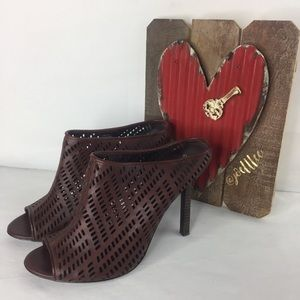 Elizabeth and James Shoes - Elizabeth and James Sophi Laser Cut Mule Heels